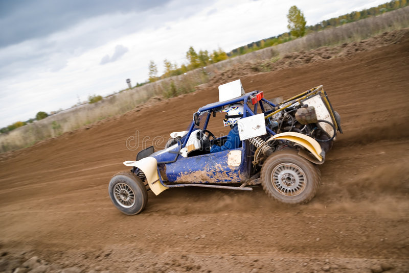 Sprint car 2. Sprint car (buggy) in a dirt track royalty free stock images