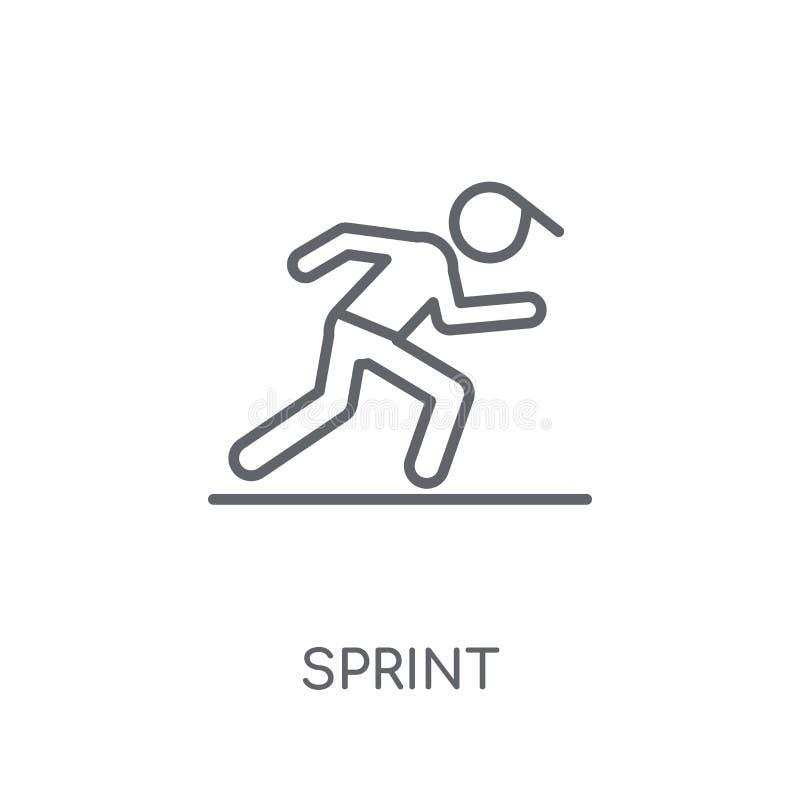 sprint lineair pictogram Modern het embleemconcept van de overzichtssprint op wit vector illustratie
