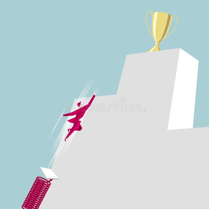 Sprint mistrzostwo Biznesowego projekta pojęcie ilustracja wektor