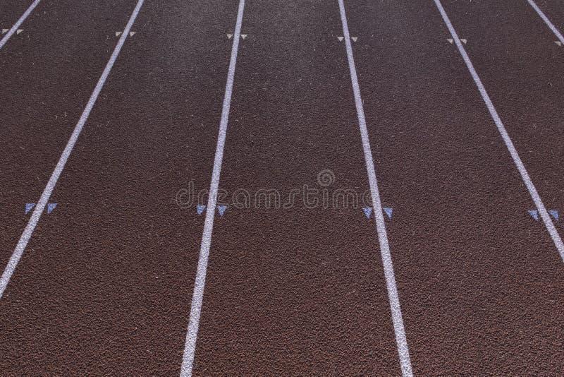 Sprinta spårlinjer arkivfoton
