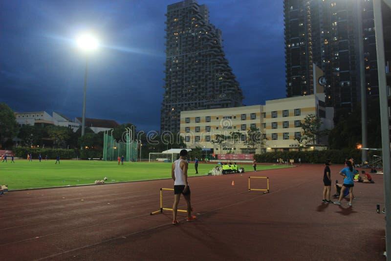 Sprinter στο αθλητικό στάδιο στη Σιγκαπούρη, Ασία στοκ εικόνες