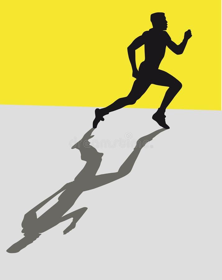 Sprinter royalty free illustration
