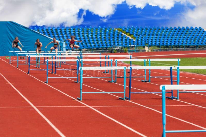 Sprinter, der fertig wird lizenzfreie stockfotos