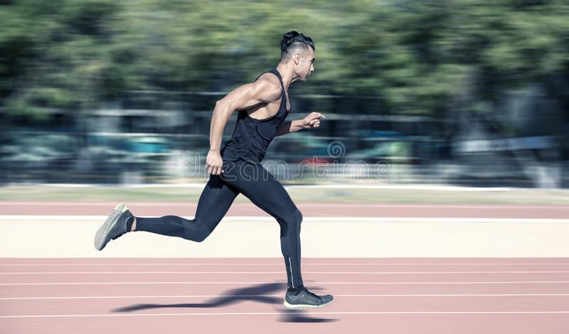 Man running fast royalty free stock photos