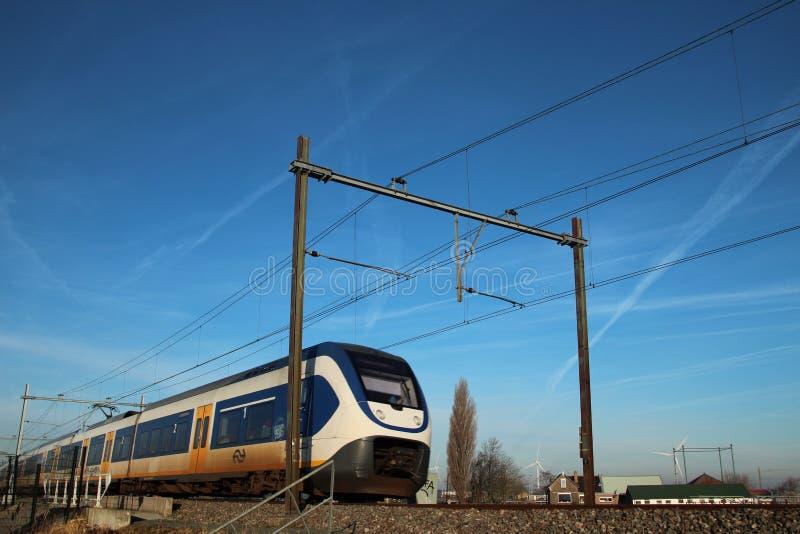 sprinter local commuter train in the evenin stock image