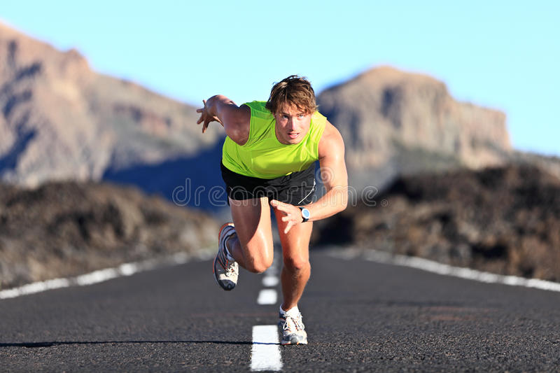 Download Sprinter running on road stock photo. Image of athlete - 23359766
