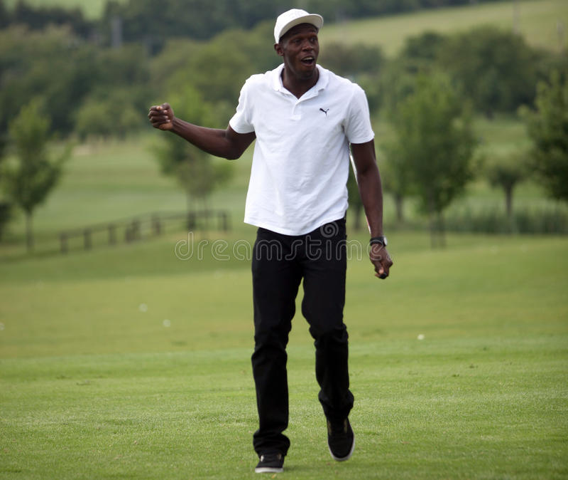 Sprinter Usain Bolt in Czech republic stock photos