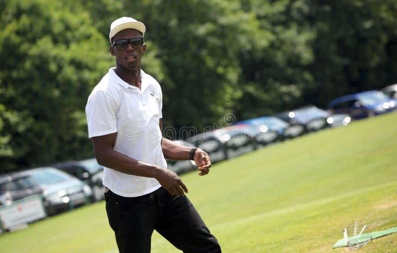 Sprinter Usain Bolt in Czech republic stock photography