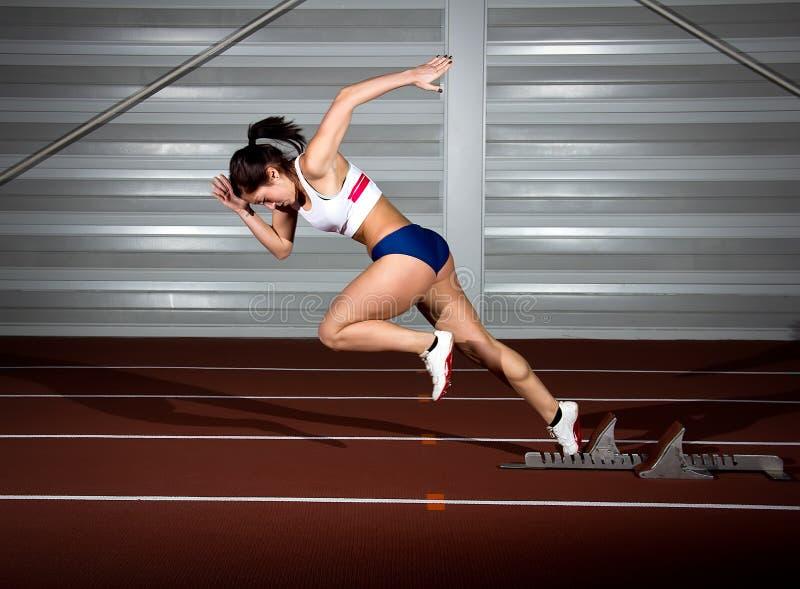 Sprinterkvinna royaltyfria foton
