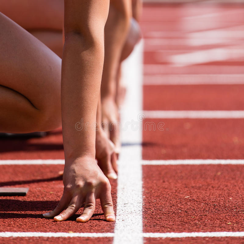 Free Sprinters Start In Track And Field Stock Photography - 24939222