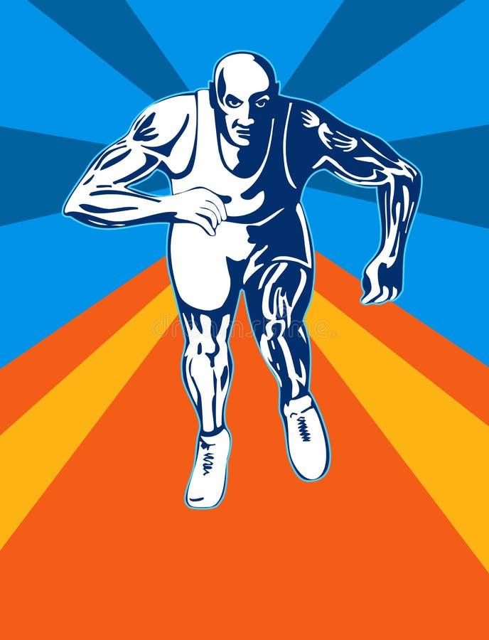sprinterstart till vektor illustrationer