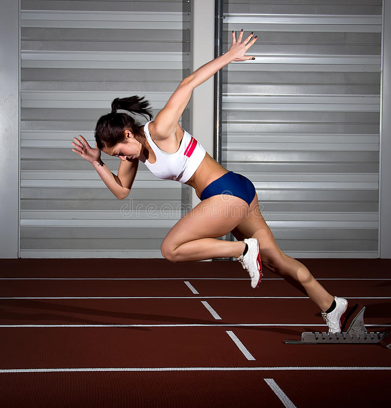 Sprintervrouw stock fotografie