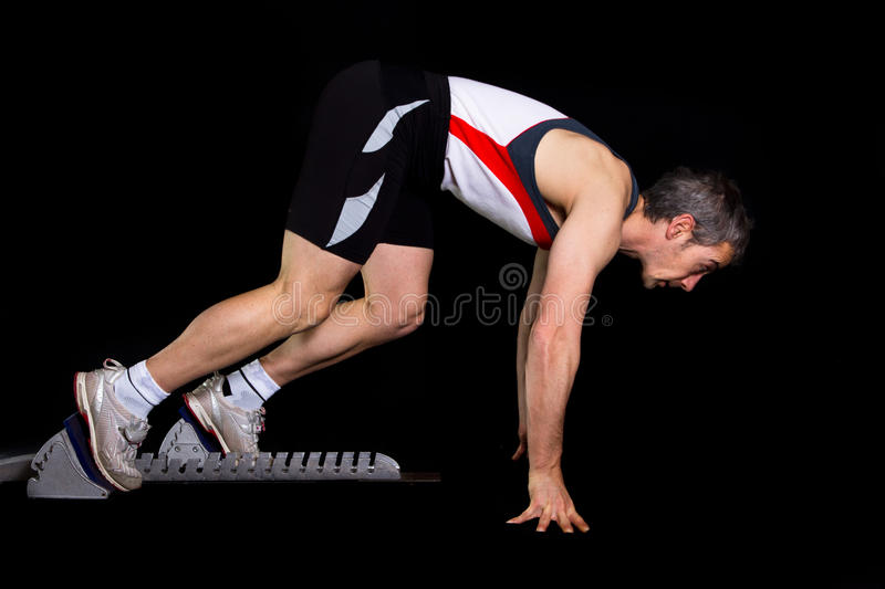 Sprinting Start Of An Athlete Royalty Free Stock Photo