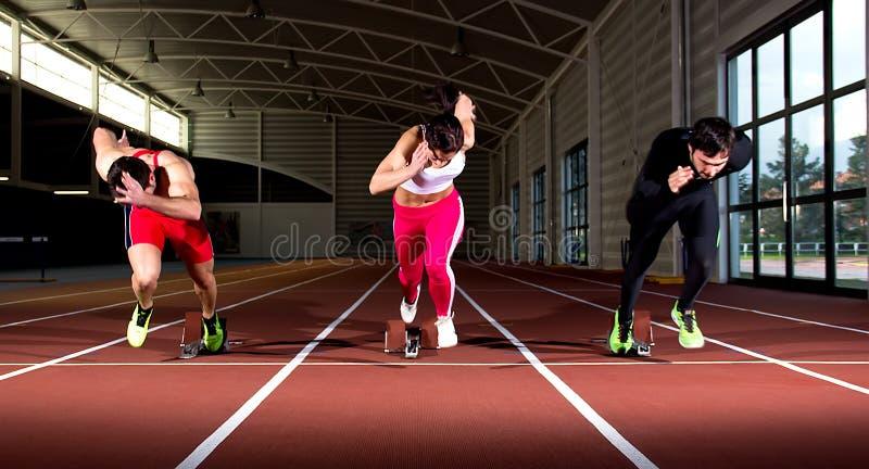 Sprintstart fotografia stock