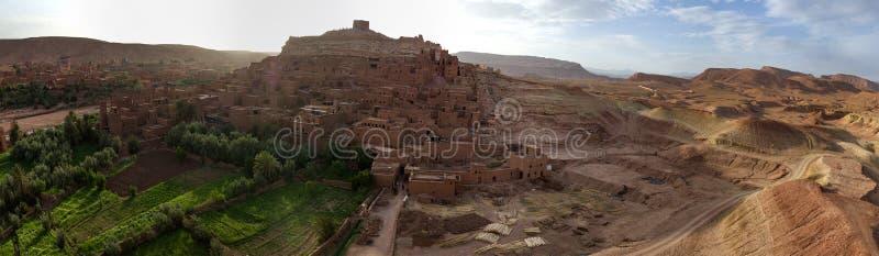 SpriteÂ的市在Ouazazate, Ait本Haddou, Marocco 免版税库存照片