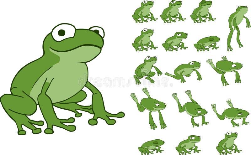Sprite de salto de la rana stock de ilustración