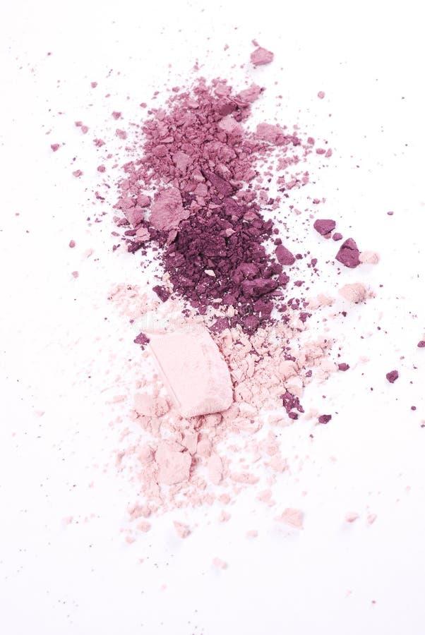 Spritt kosmetiskt pulver arkivfoto