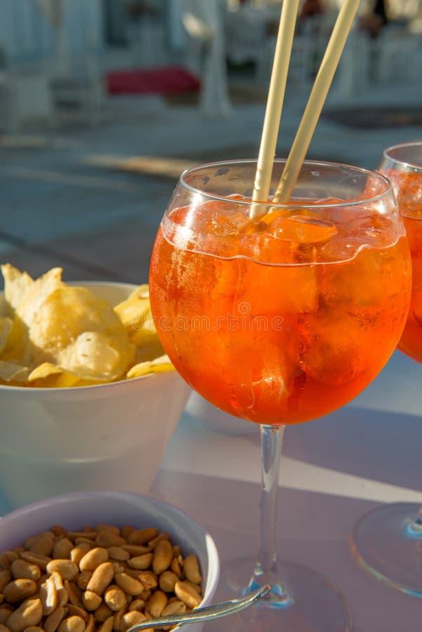 Spritz el aperitivo en Italia fotografía de archivo