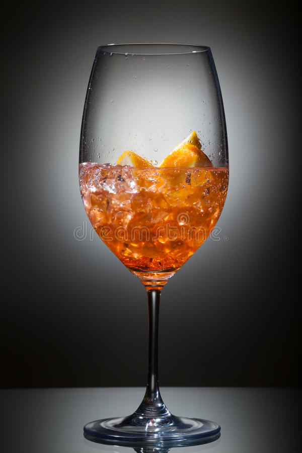 Spritz. Freshly made Spritz with aperol, soda and prosecco stock photography