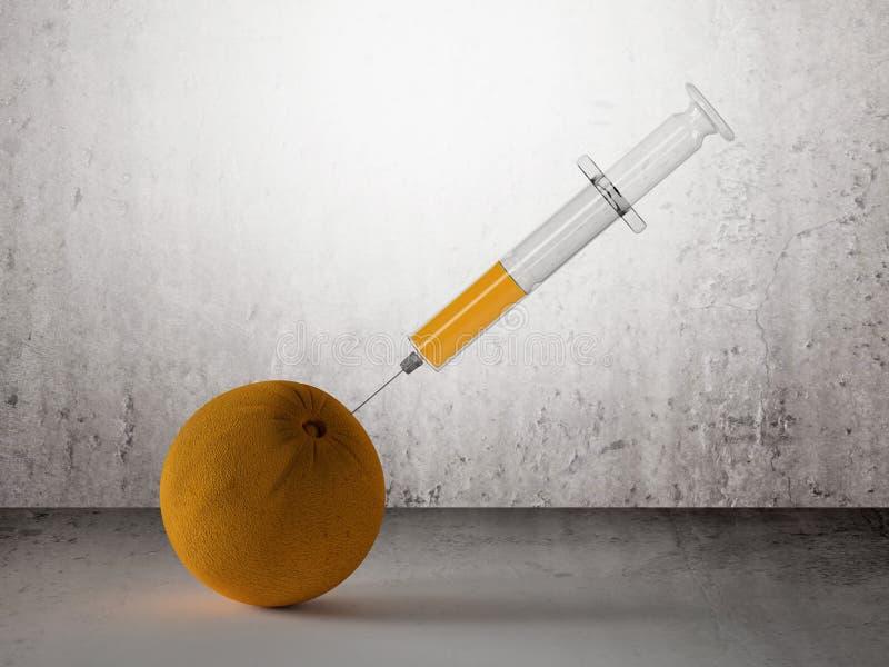 Spritze und Orange vektor abbildung
