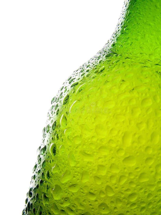 Spritzed Beer Bottle royalty free stock images