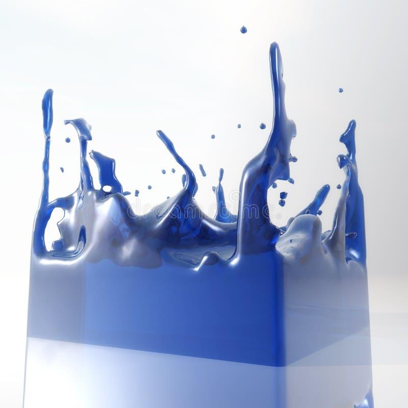 Spritzen der Flüssigkeit stock abbildung