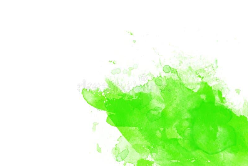 Spritzen der grünen Flüssigkeit stock abbildung