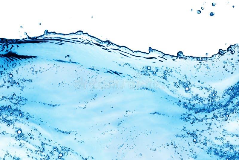 Spritzen des blauen Wassers lizenzfreie stockfotografie