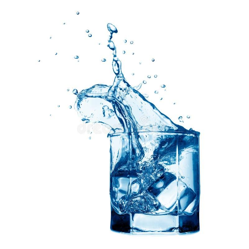 Spritzen im Glas stockbild