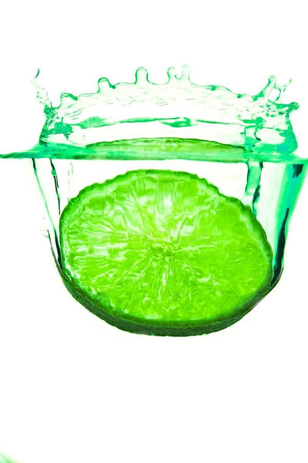 Spritzen-Zitrone lizenzfreies stockbild