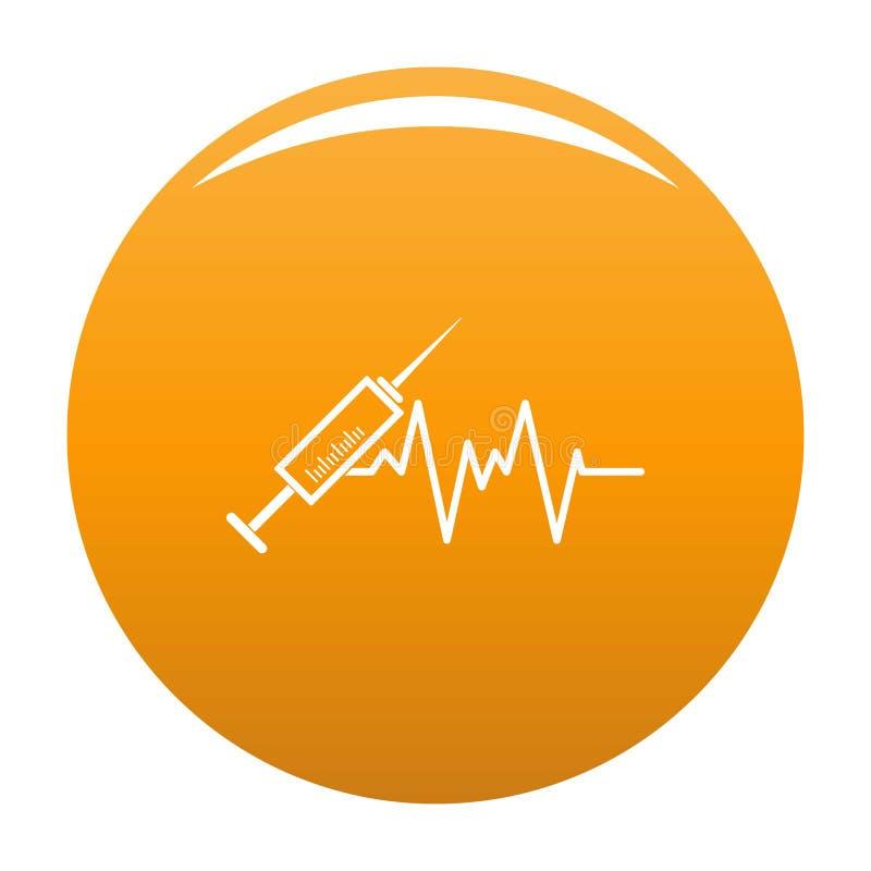 Spritzenikonen-Vektororange vektor abbildung