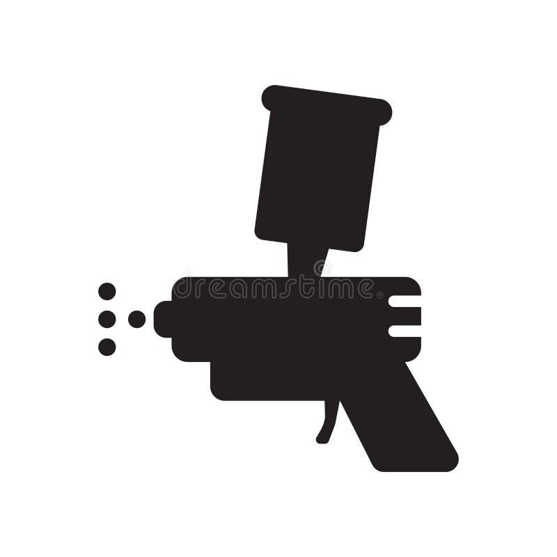 Spritzpistolenikone  lizenzfreie abbildung