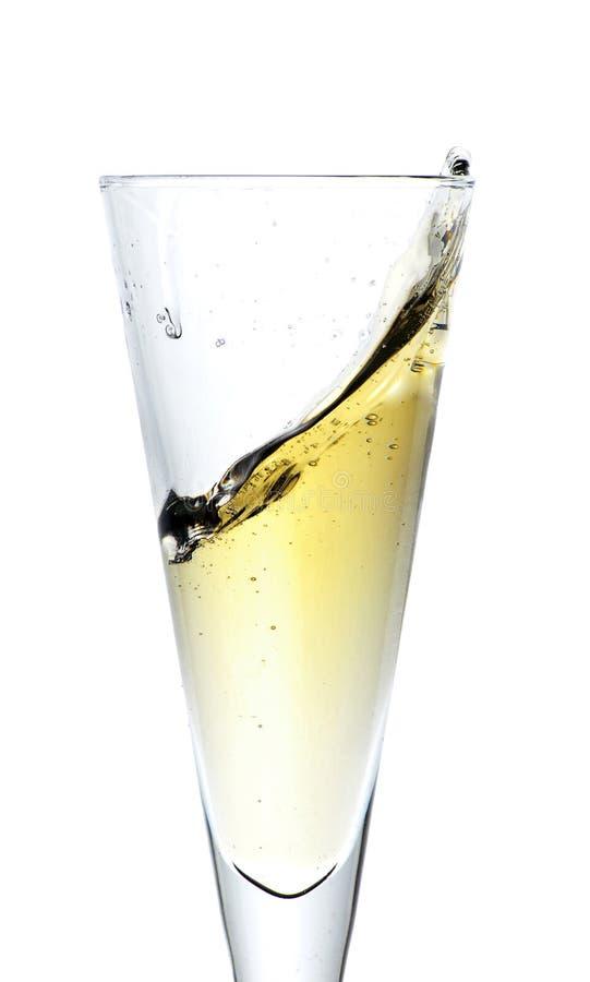 Spritzt vom Champagner lizenzfreie stockbilder
