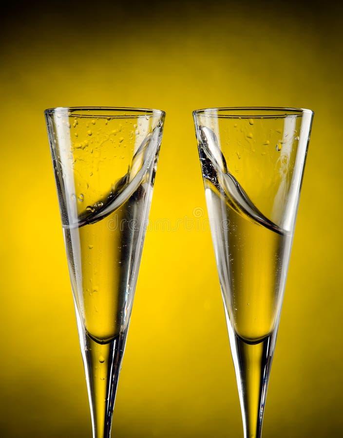 Spritzt vom Champagner lizenzfreies stockbild