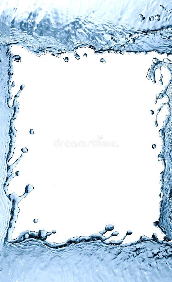 Spritzwasser-Rahmen stockfotos