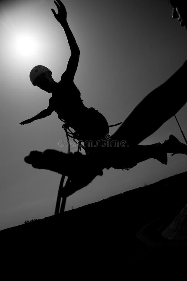 Sprong in de zon stock fotografie