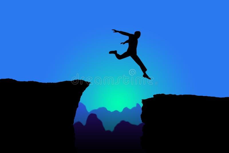 Sprong, risico vector illustratie