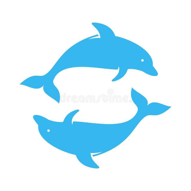 Sprong van dolfijn de slimme vissen vector illustratie