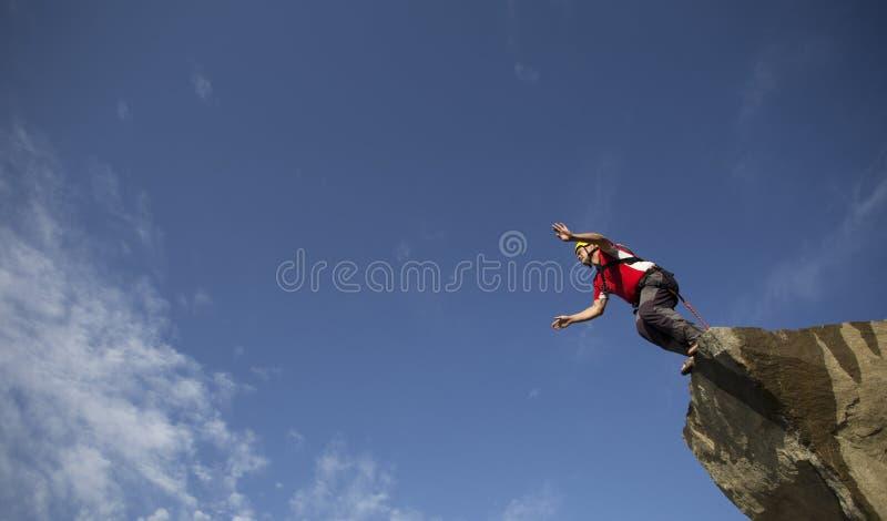Sprong van een Klip stock foto