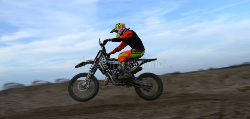 Sprong van moto royalty-vrije stock foto