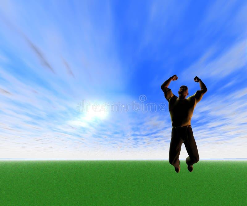 Sprong van Vreugde stock illustratie