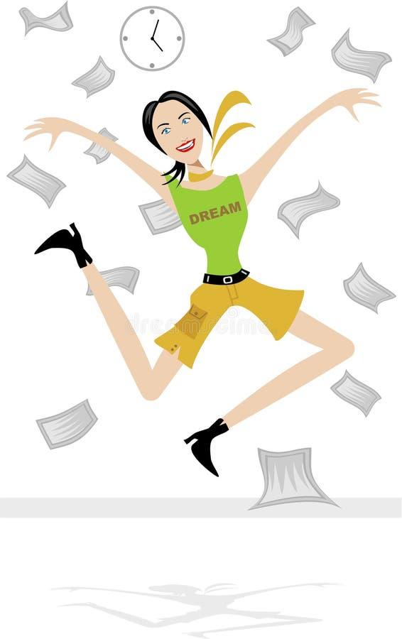 Sprong voor Vreugde stock illustratie
