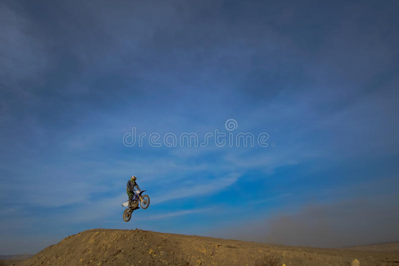 Sprongmotorrijder, motocross royalty-vrije stock foto's