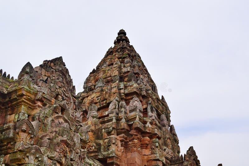 Sprossen-Schloss Khao Phanom, der ?lteste Platz in der Geschichte in Buriram, Thailand stockfoto