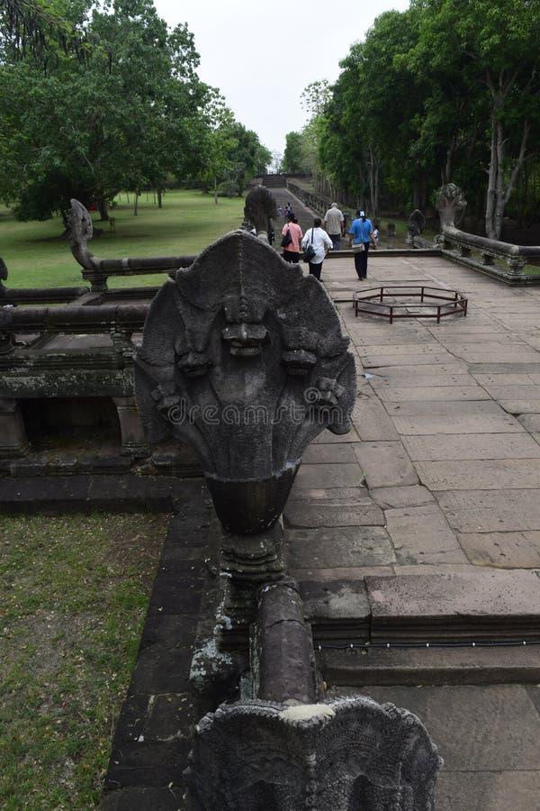 Sprossen-Schloss Khao Phanom, der ?lteste Platz in der Geschichte in Buriram, Thailand lizenzfreie stockfotos