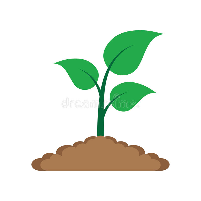 Sprout in the ground. royalty free illustration