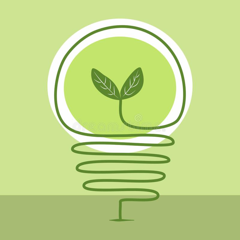 Sprout in light bulb royalty free stock photo