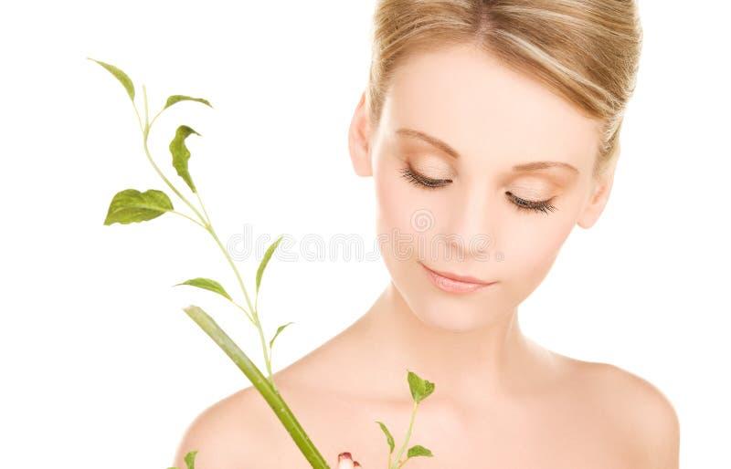 sprout woman στοκ εικόνες