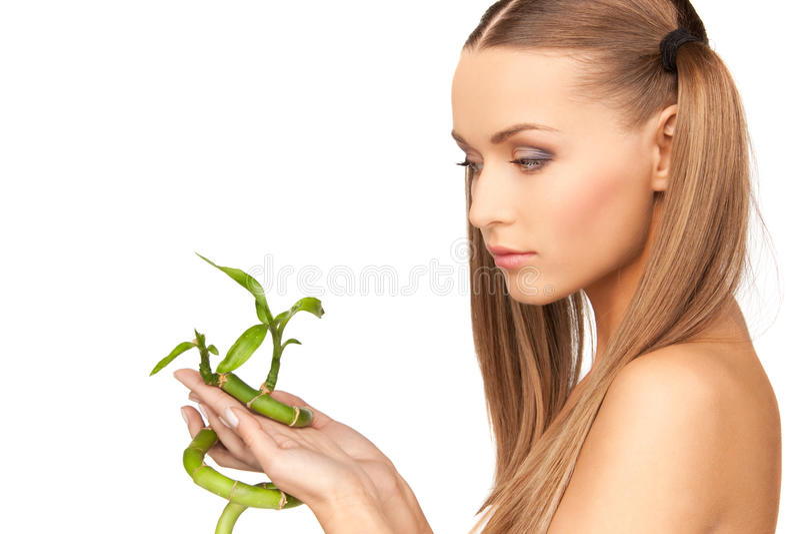 sprout woman στοκ εικόνες με δικαίωμα ελεύθερης χρήσης