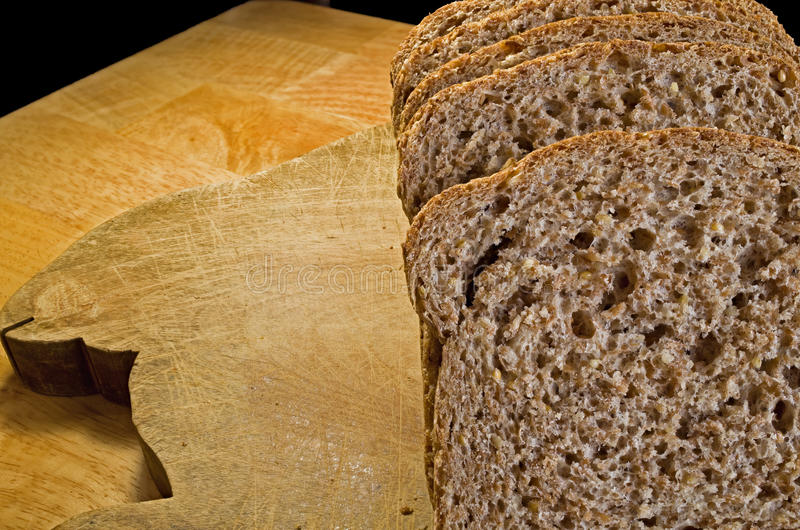 Sprouted Bread. Flourless low glycemic sprouted whole grain bread is a great source of protein and contains essential amino acids royalty free stock image
